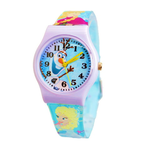 Disney Frozen Olaf Wrist Watch For Children  Large Colorful Analog Display