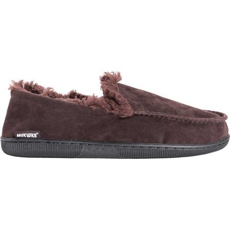MUK LUKS Men's Faux Suede Moccasin Slippers
