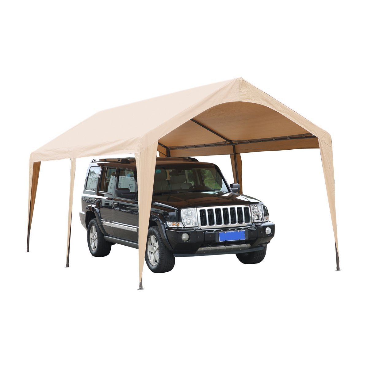 Zimtown 10 x 20 FT Carport Car Auto Garage Shelter Cover Canopy Tent w/ Foot Cloth Khaki