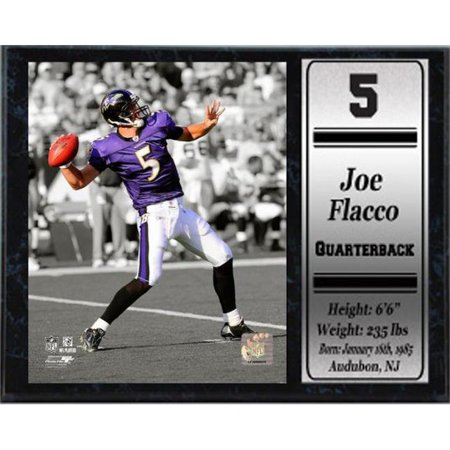 a37b5387501 Encore Select 521-78 12 x 15 Stat Plaque - Joe Flacco Baltimore Ravens ...