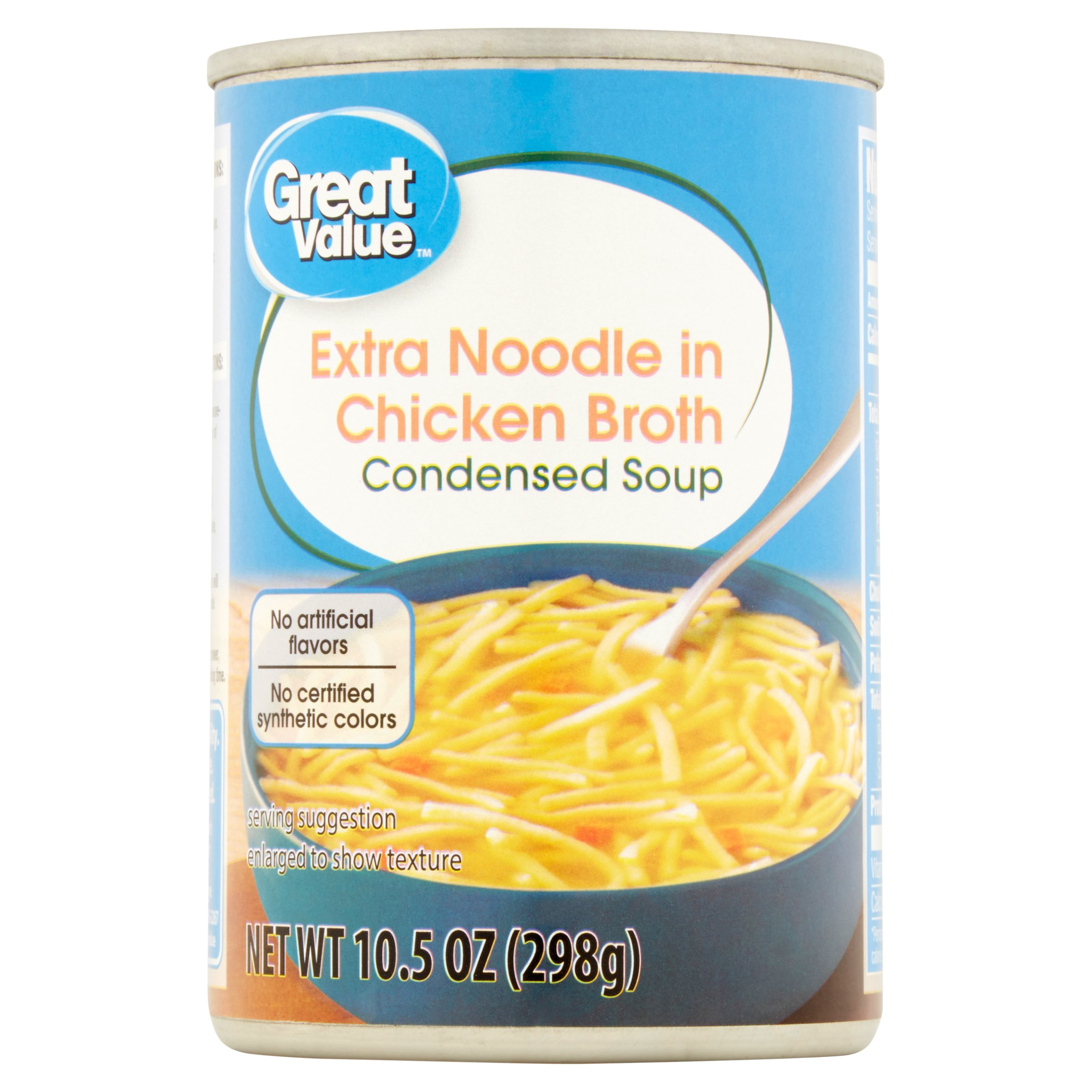 Great Value Extra Noodle in Chicken Broth Condensed Soup, 10.5 oz