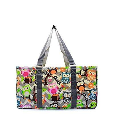 n. gil all purpose open top 23 classic extra large utility tote bag 2 (chevron owl grey grey) - Chevron Bag