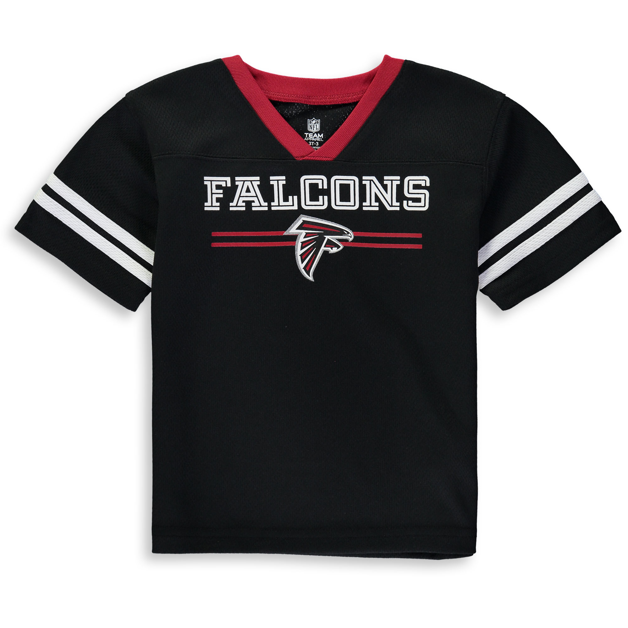 Toddler Black Atlanta Falcons Mesh Jersey V-Neck T-Shirt