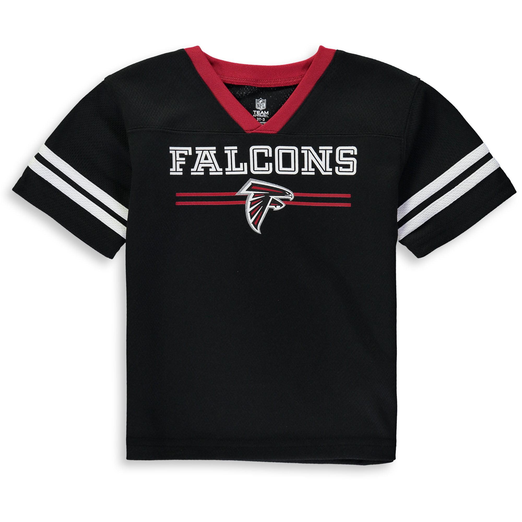 Toddler Black Atlanta Falcons Mesh Jersey V-Neck T-Shirt