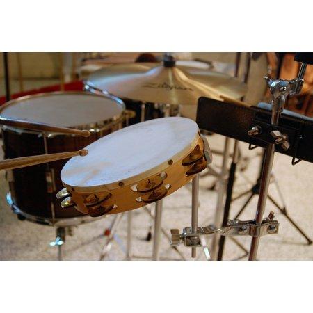 LAMINATED POSTER Equipment Percussion Field Drum Music Tambourine Poster Print 24 x 36 - Wholesale Tambourines