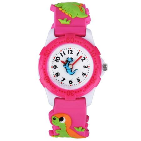 Zeiger Cute Cartoon Dinosaur Silicone Band Kids Watch Boys Young Teens Time Teacher Easy Read Wrist Watch -