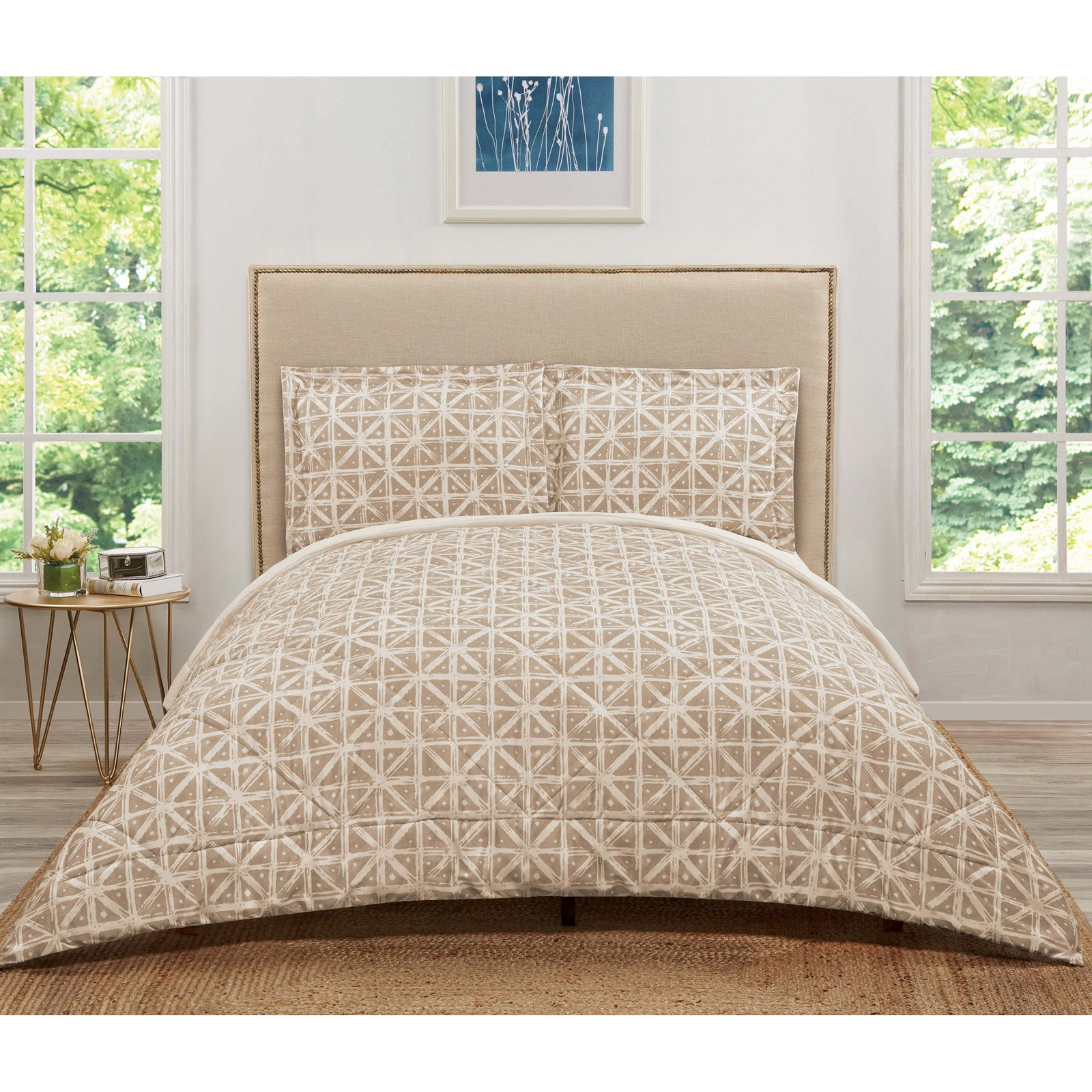 Truly Soft Celine Forrest Gray Twin Extra Long Comforter Set