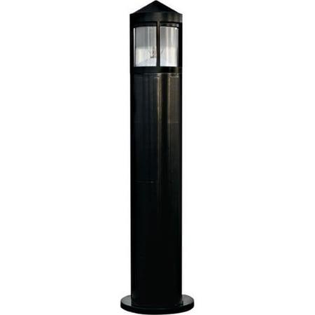 Dabmar Lighting D120-B 60W 120V Fiberglass Bollard, Black - 41.88 x 10.25 x 10.25 in.