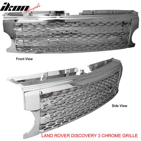 Compatible with 05-09 Discovery 3 LR3 HSE SE Front Chrome Honeycomb Mesh Style