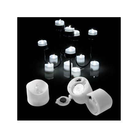AGPtek 6 PCS LED Flameless Flickering Tea Light Candles Battery Operated White For Wedding](Black Battery Operated Candles)