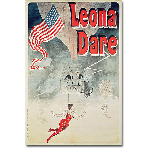 "Trademark Art ""Leona Dare, 1890"" Canvas Wall Art by Jules Cheret"