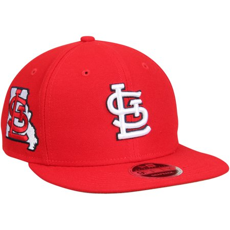 St. Louis Cardinals New Era State Clip Snapback 9FIFTY Hat - Red - OSFA