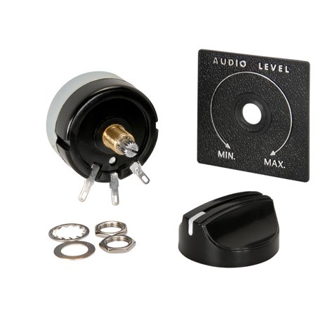 "Speaker L-Pad Attenuator 15W Mono 3/8"" Shaft 8 Ohm"