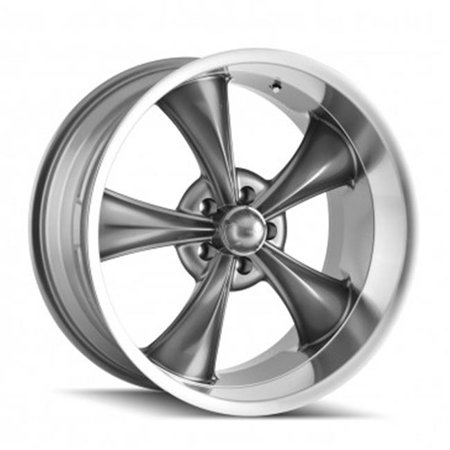 Ridler 695-7861G 5-120.65 PCD Grey Machined Lip Wheel - image 1 of 1
