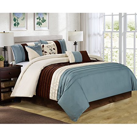 Unique Home 7 Piece Eden Patchwork And Pintuck Bed In A