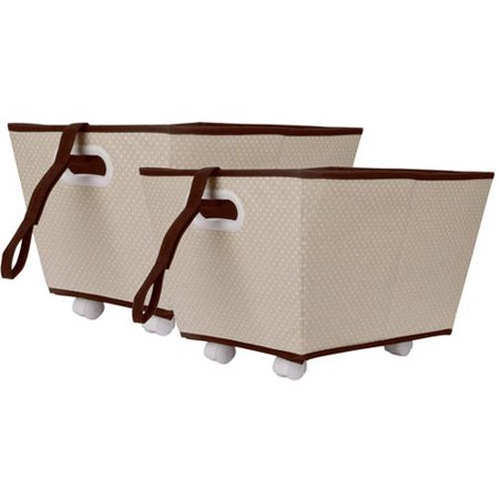 Delta Storage Bins With Wheels Set Of 2 Choose Your