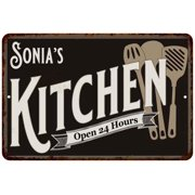 Sonia's Kitchen Personalized Sign Metal Wall Decor Dift 8x12 208120019287