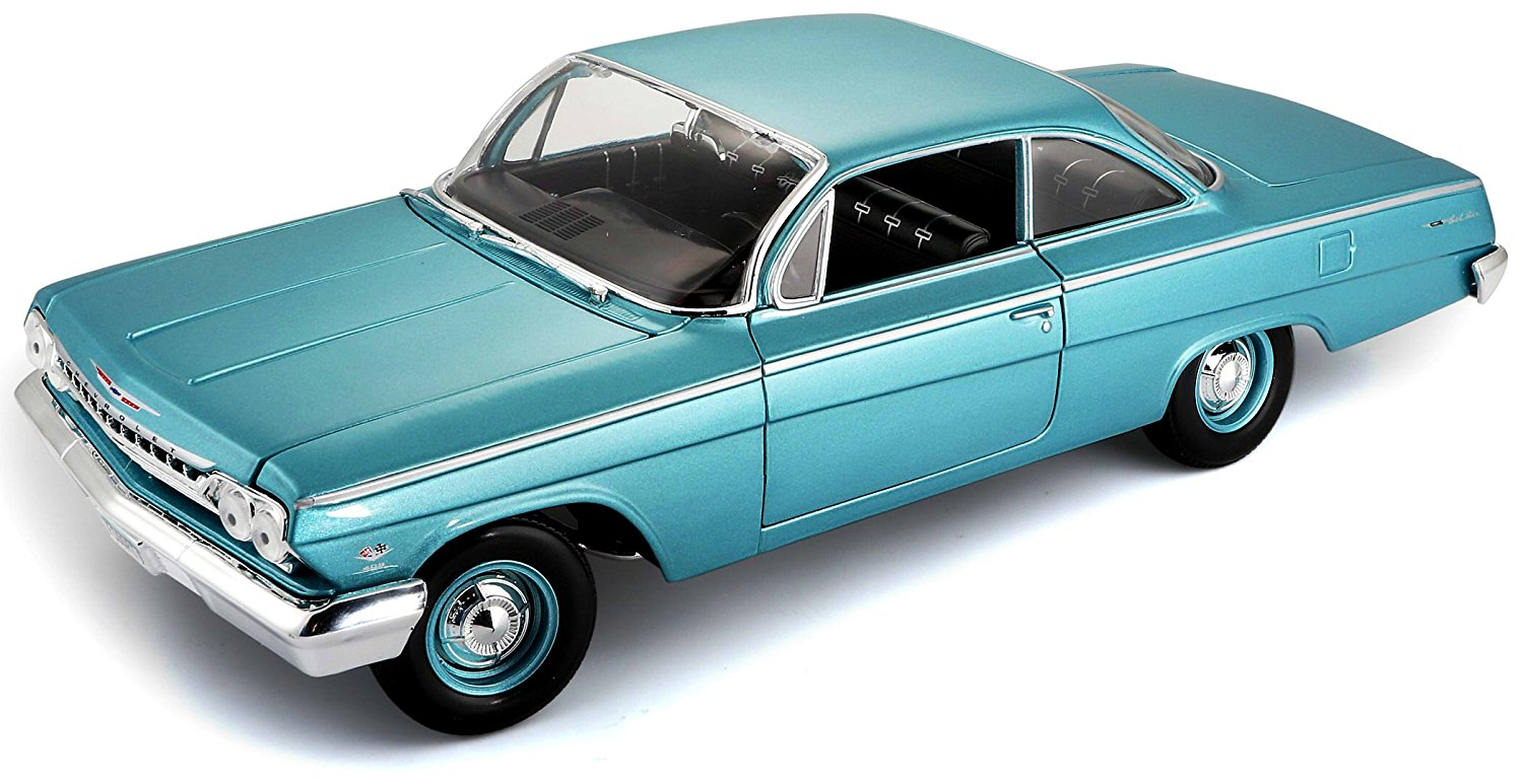 1:18 Scale 1962 Chevy Bel Air Diecast Vehicle (Colors May Vary), Large approximately 9-1 2... by