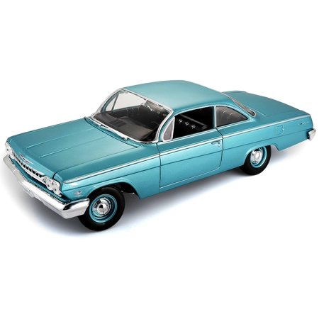1:18 Scale 1962 Chevy Bel Air Diecast Vehicle (Colors May Vary), Large approximately 9-1/2 replicas, die-cast metal body with plastic parts By