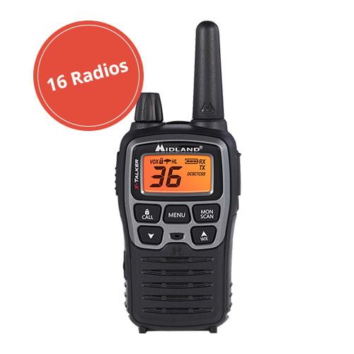 Two Way Radio (16 Radios) Midland-X-TALKER T71VP3 by Midland