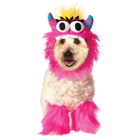 Little Pink Fluffy Monster Sully Pet Dog Cat Halloween Costume - Dogs In Halloween Costumes Tumblr