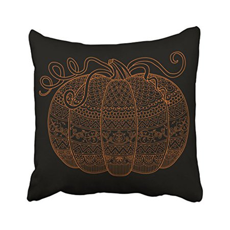 WinHome Decorative Pillowcases Pumpkin Halloween Fall Art Orange Chevron Pattern Throw Pillow Covers Cases Cushion Cover Case Sofa 18x18 Inches Two Side - Pumpkin Patterns Halloween