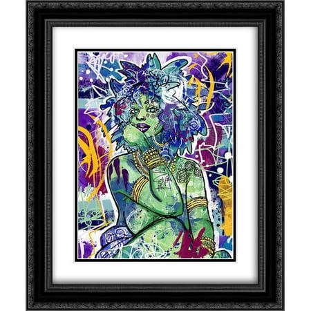 Subira 2x Matted 20x24 Black Ornate Framed Art Print by Copeland, Justin ()