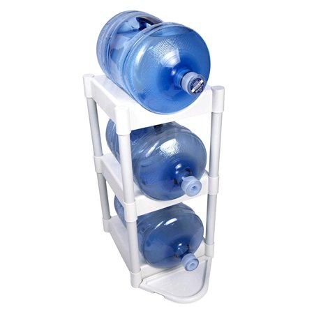 3-Tier with Floor Protection Kit, Protect your floors with Bottle Buddy, the convenient 3-Tier storage unit for 5-gallon water bottles By Bottle Buddy (5 Gallon Water Bottle Rack)