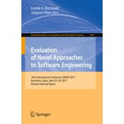Evaluation of Novel Approaches to Software Engineering - eBook