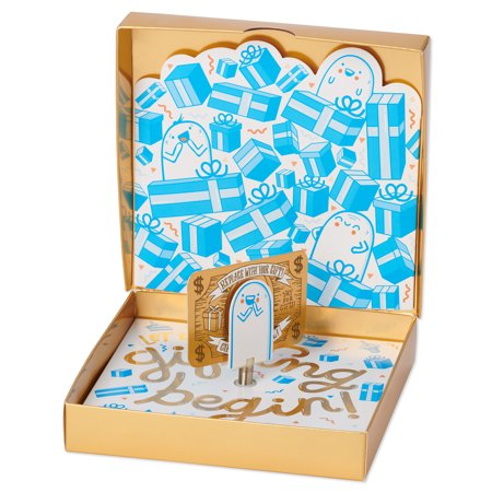 American Greetings Gifting Pop-Up Gift Card Holder Birthday Card with Music Heart Card Holder