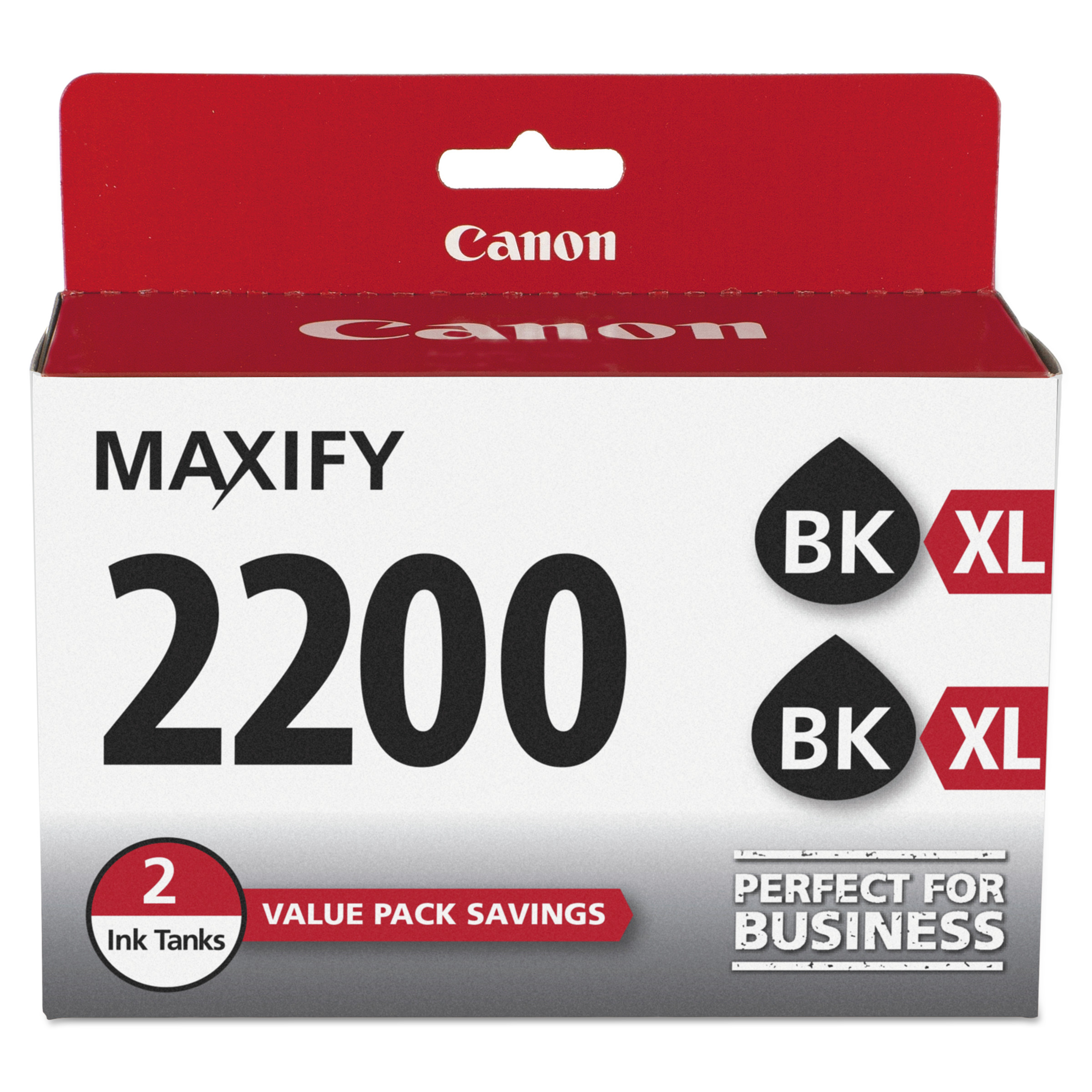 Canon 9255B006 (PGI-2200XL) High-Yield Ink, Black, 2/PK