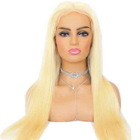 AISOM 613 Blonde Lace Front Human Hair Wigs Peruvian Virgin Hair Pre plucked Hairline with Baby Hair, 18""