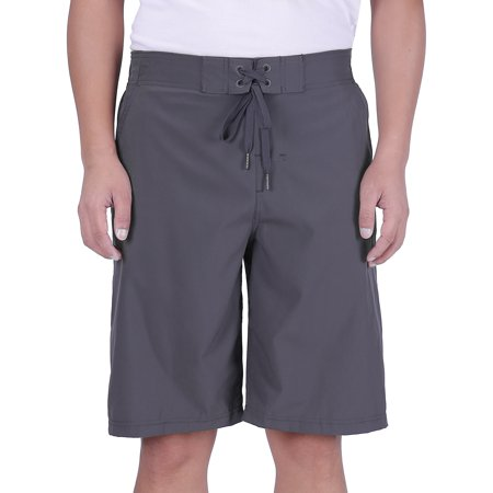 HDE Hybrid Board Shorts - Men's Swimsuit, Trunks for The Beach, Swimming, Pool (Charcoal, 36)