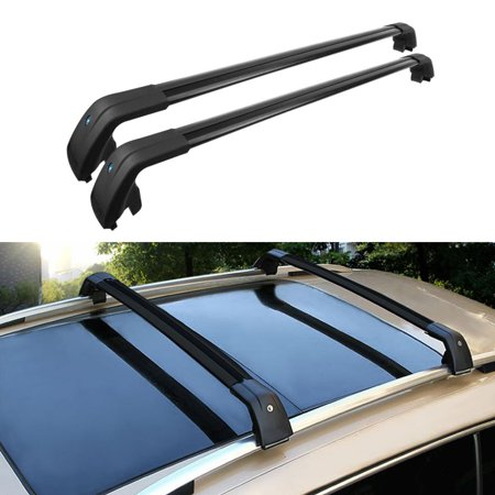 beamnova 40 inch 2pcs black aluminum roof top rack side. Black Bedroom Furniture Sets. Home Design Ideas