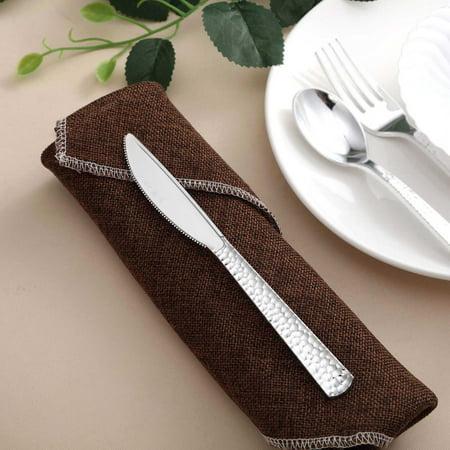 Efavormart 24 Pack Disposable Plastic Knives   7