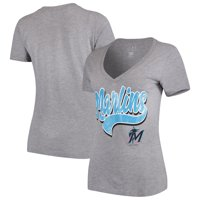a60ff9beca9 Product Image Women s 5th   Ocean by New Era Heathered Gray Miami Marlins  Team V-Neck T
