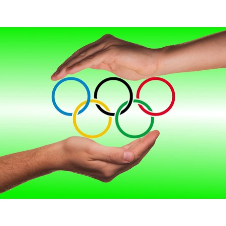 LAMINATED POSTER Olympic Rings Protection Olympiad Hands Poster Print 24 x 36](Olympic Rings Decorations)
