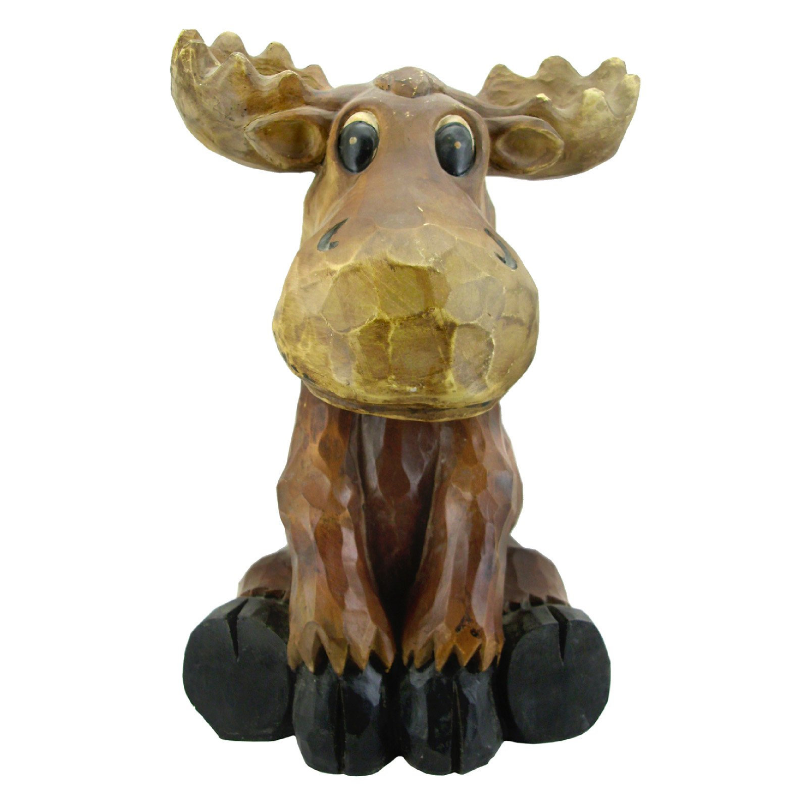 Beckett Sitting Moose Garden Statue