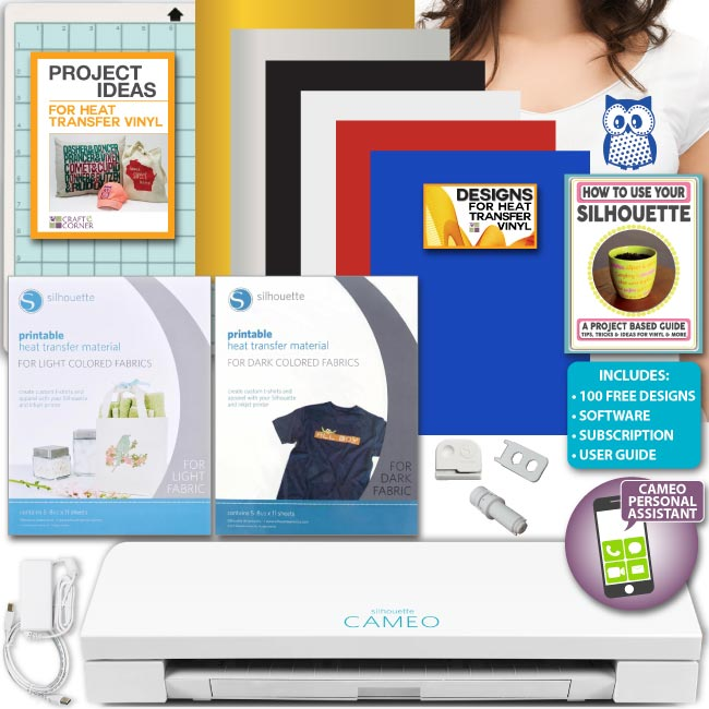 picture regarding Printable Htv Vinyl named Silhouette Cameo 3 Product Deal Printable HTV Warmth