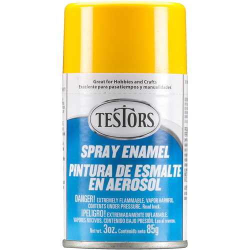 Testors Spray Paint, Yellow, 3 oz