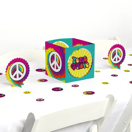 60's Hippie - 1960s Groovy Party Centerpiece & Table Decoration Kit](1960s Decorations)