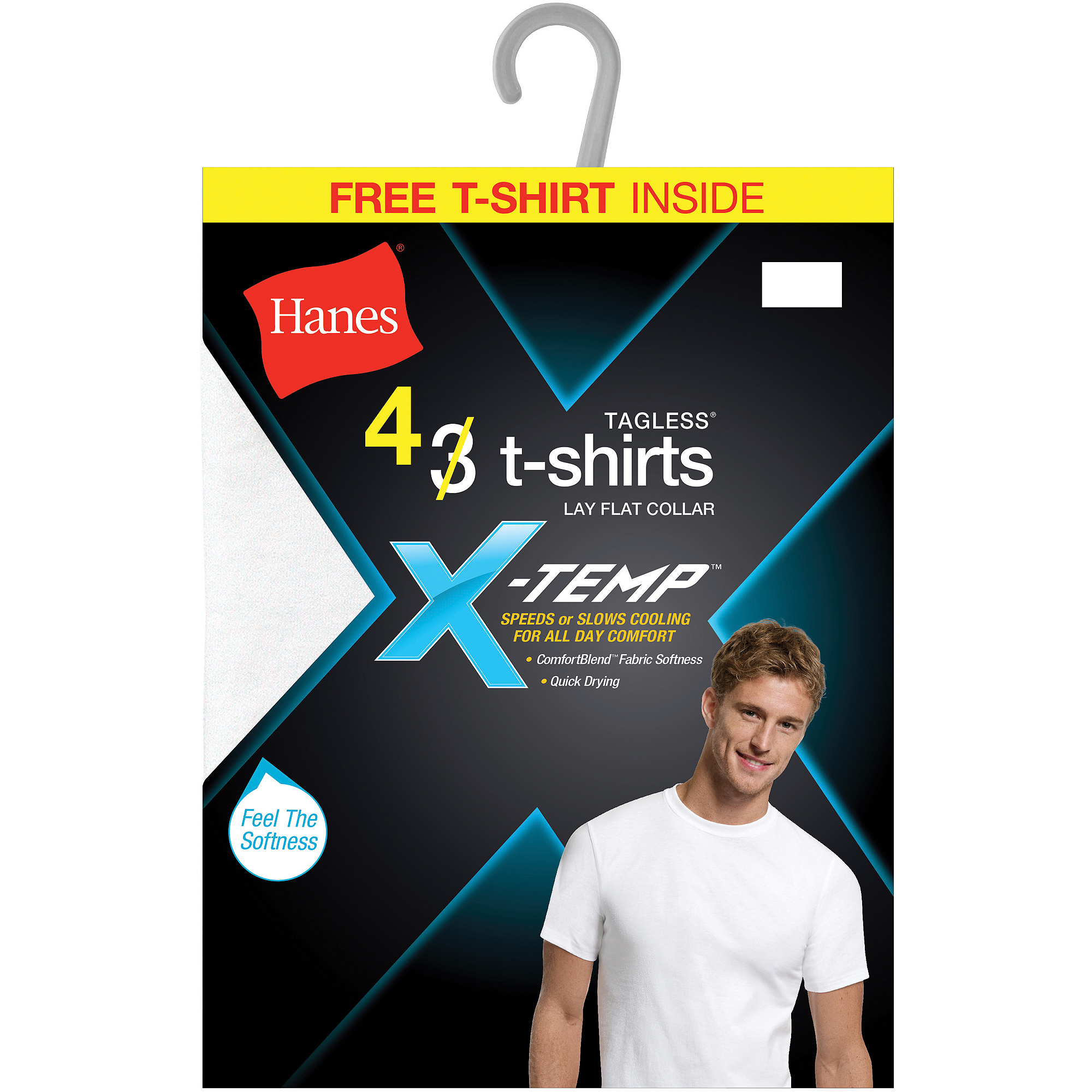 Hanes Men's Xtemp Crew 3 Pack   Get 1 Free