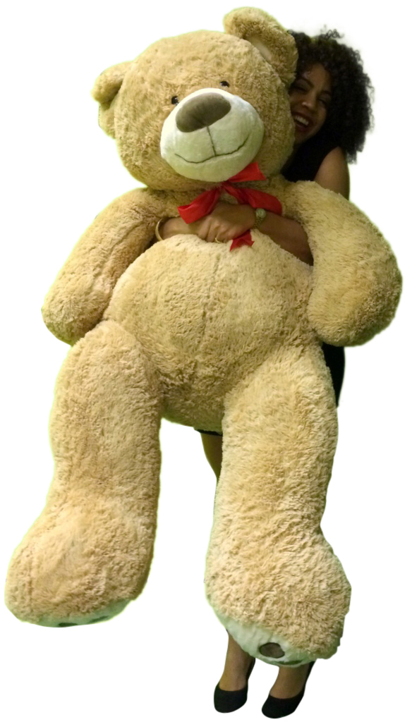5 Foot Giant Teddy Bear Huge Soft Tan With Bigfoot Paws Giant