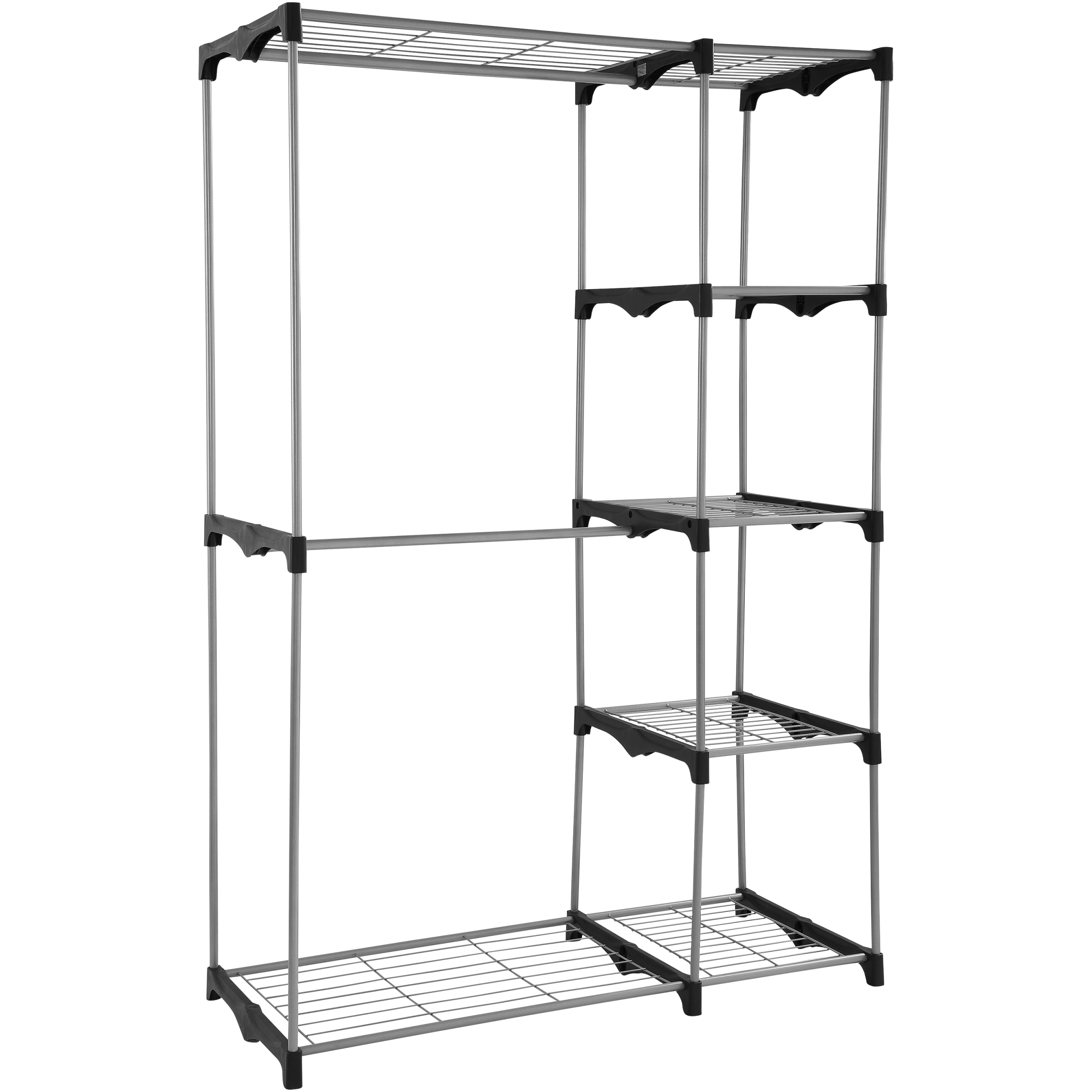 Mainstays Wire Shelf Closet Organizer, 2-Tier, Easy to ...