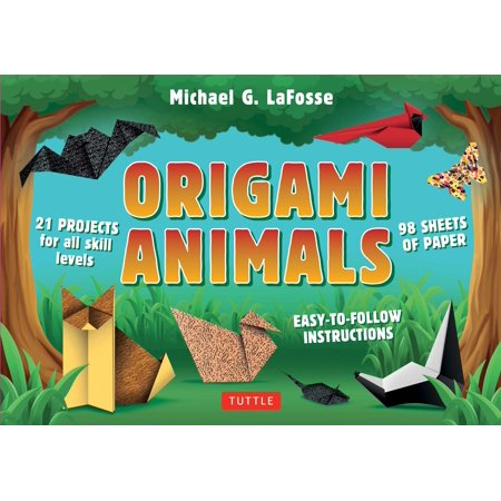 Origami Animals Kit : Make Colorful and Easy Origami Animals: Kit Includes Origami Book, 98 High-Quality Papers and 21 Original Projects (Original And Easy To Make Halloween Costumes)