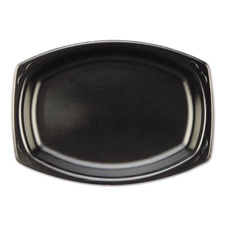 Rectangle Laminate - Genpak Elite Laminated Foam Platter 7 x 9 Black Rectangle 125 Pack 4 Packs/Carton - GNPLAM793L