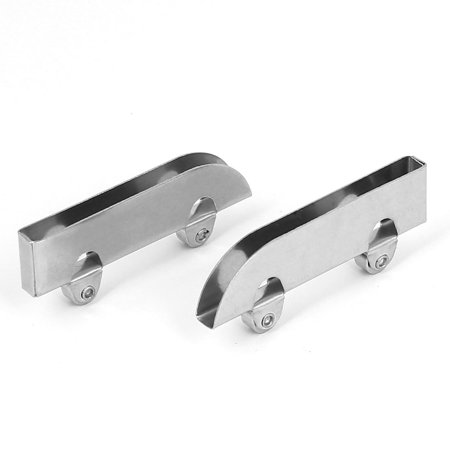 Showcase Glass Sliding Door Roller Clamp Stainless Steel Wheel Pulley