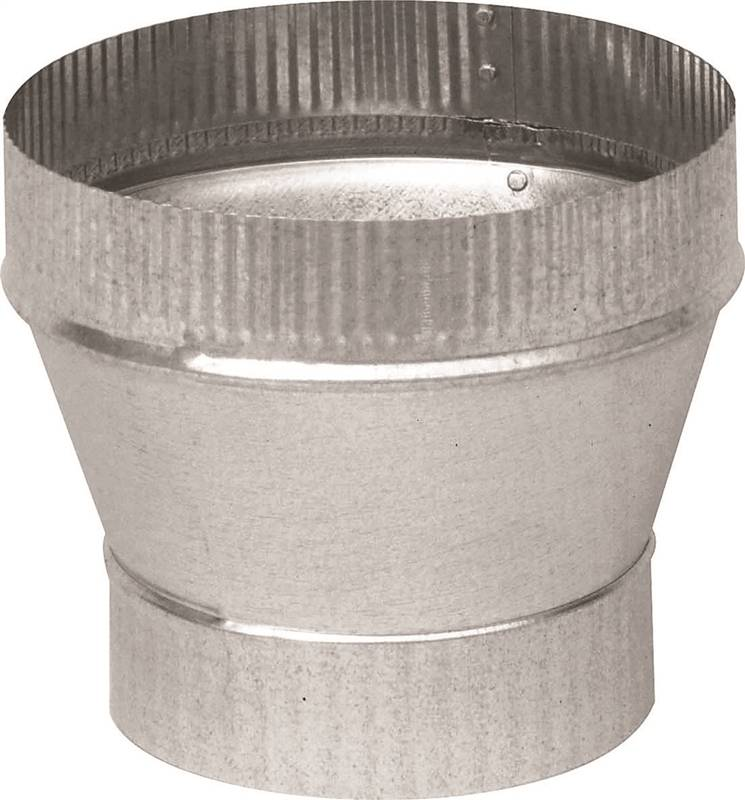 Imperial GV1358 Taper Stove Pipe Increaser, 5 X 6 in, Large End Crimped, 26 ga, Galvanized