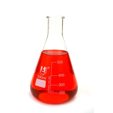 500ml Erlenmeyer Flask ; Narrow Neck, Eisco Labs 3.3 Borosilicate Glass ( Single flask )