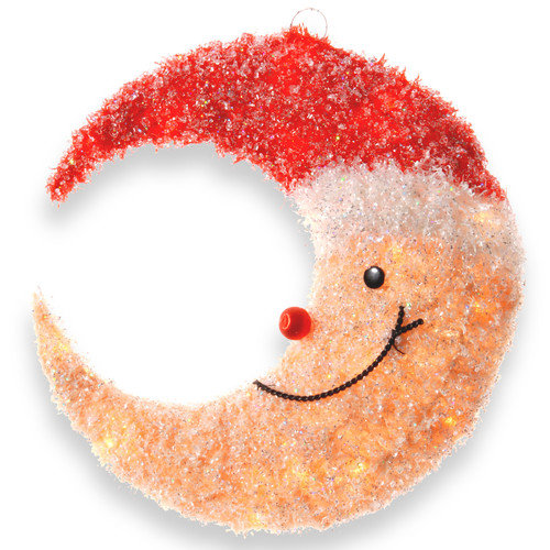 National Tree Co. Decorative D cor Smiling Moon with Hat Christmas Decoration